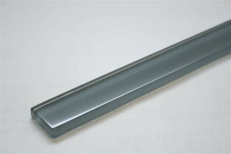 eclipse grey blue 1 in x 12 in glass pencil molding tile