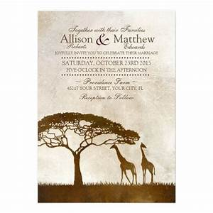 rustic african giraffe wedding invitations features two With african wedding invitations samples