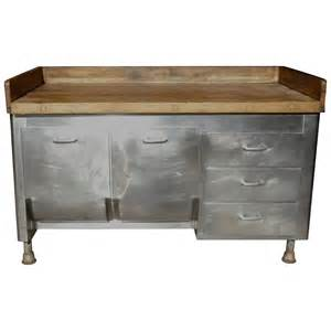commercial kitchen furniture butcher block steel commercial kitchen 1930s baking island cabinet at 1stdibs