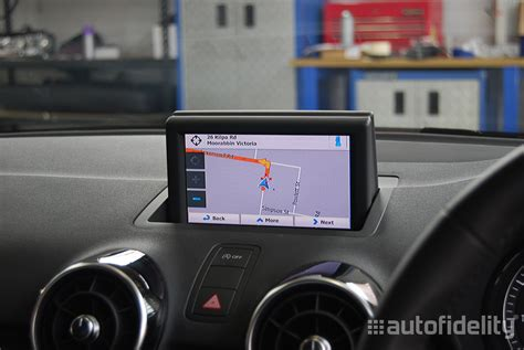 Touchscreen Integrated Satellite Navigation System With