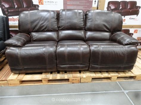 costco leather sofa in store cheers clayton motion leather sofa