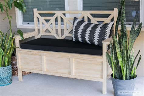 Diy Patio Bench Plans by How To Build A Diy Outdoor Storage Bench