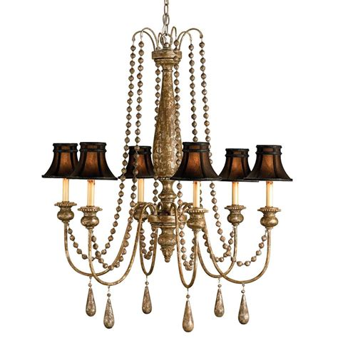 traditional beaded swag shaded 6 light chandelier kathy