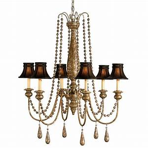 Traditional beaded swag shaded light chandelier kathy