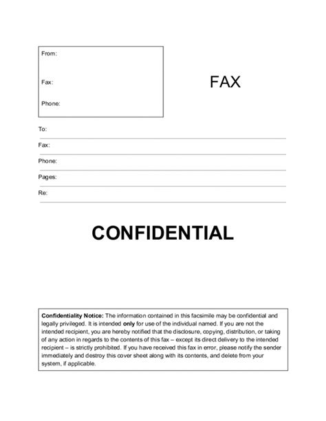 standard cover letter sle 12174 printable standard fax cover sheet blank printable 24962