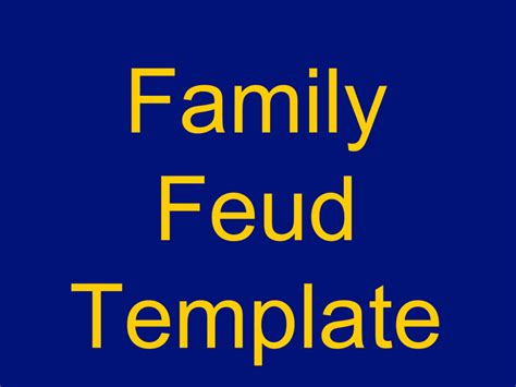 family feud powerpoint template template
