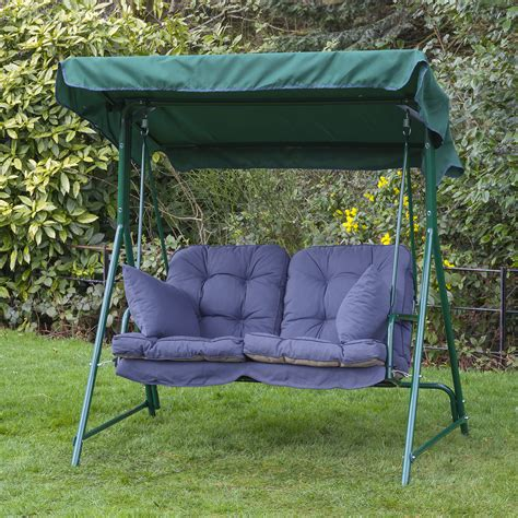alfresia luxury garden swing seat cushions 2 seater ebay