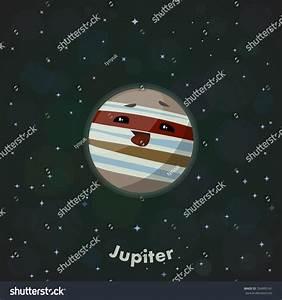 Cute Planet Jupiter Stock Vector Illustration 354995141 ...