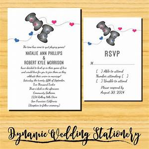 diy printable geeky gamers wedding invite and rsvp card With diy geeky wedding invitations