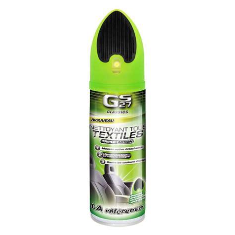 produit nettoyant canapé tissu nettoyant tissus et brosse gs27 400 ml feu vert