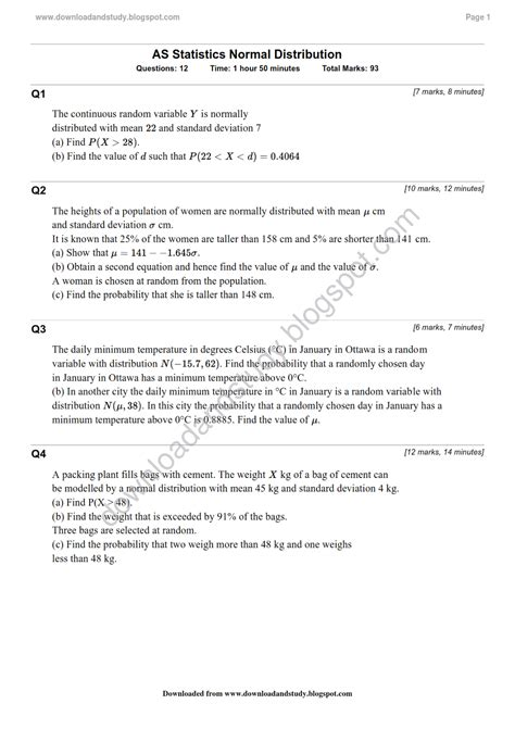 Normal Distribution Statistics Worksheet Answers Breadandhearth