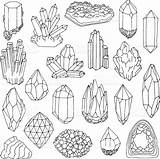 Crystal Coloring Drawing Pages Gem Crystals Gemstone Bullet Journal Reference Minerals Tips Doodles Line Tattoo Doodle Illustration Clipart Draw Inspo sketch template
