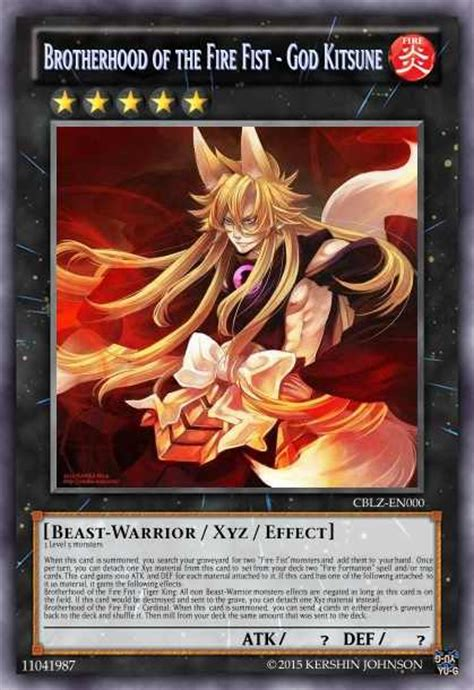 brotherhood of the fire fist god kitsune by blazing