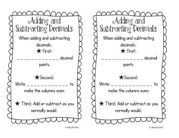 adding and subtracting whole numbers and decimals worksheets  adding subtracting multiplying dividing decimals