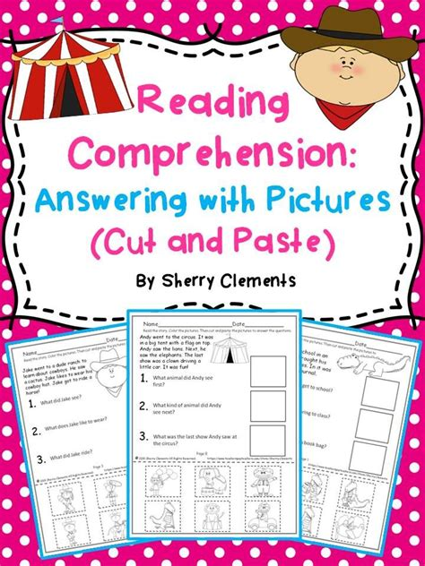 reading comprehension answering with cut and paste 1 sherry clements