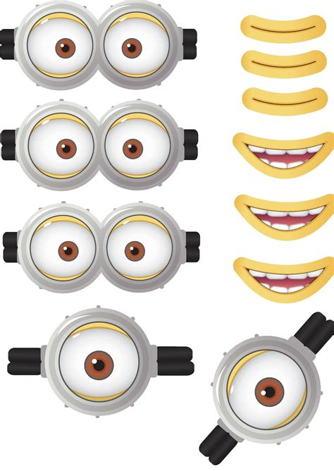 minion goggles mouths  printable despicable
