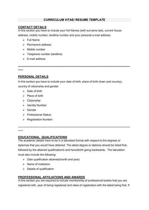 curicculum vitae 48 great curriculum vitae templates examples template lab