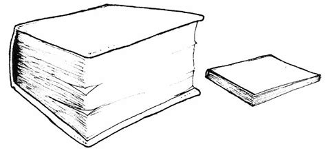 thin book template thick clipart clipground