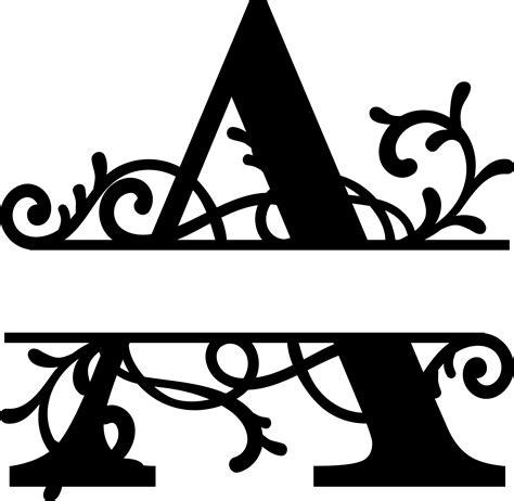 split letter monogram  metal art