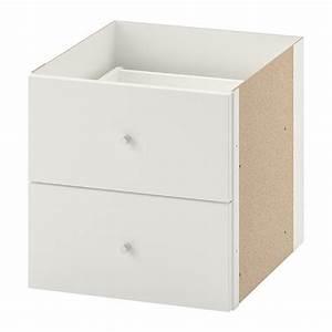Ikea Regal Schubladen : kallax einsatz mit 2 schubladen wei ikea ~ Frokenaadalensverden.com Haus und Dekorationen