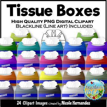 tissue boxes clip art  personal  commercial  tpt