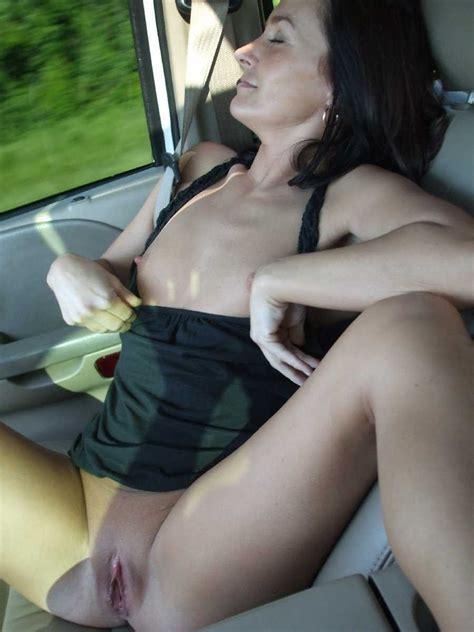 hot wife flashing on the road trip porn photo eporner