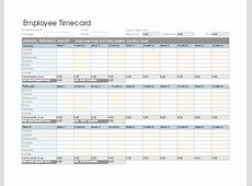 Employee timecard daily, weekly, monthly, and yearly