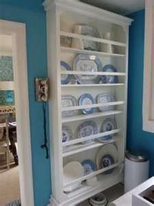 shallow cabinet   silverware  stemware plate rack wall plate shelves plates