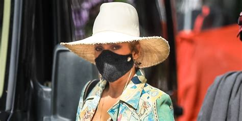 Jennifer Lopez Wears Bright Print Look in NYC After 'Marry ...