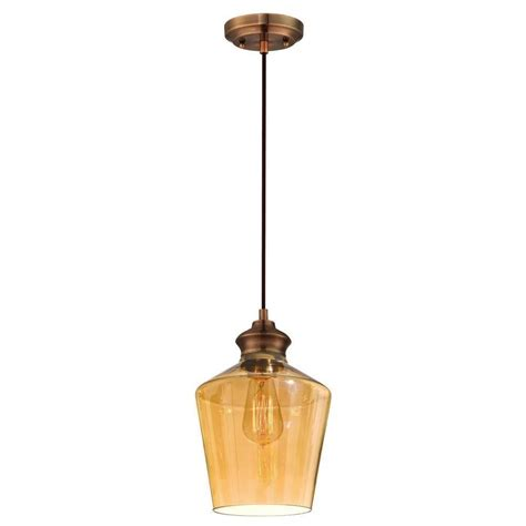 westinghouse copper adjustable vintage mini pendant