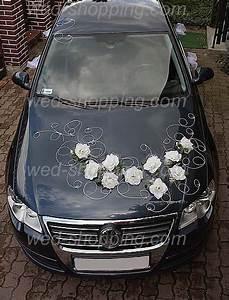 Decoration Voiture Mariage : d coration voiture de mariage roses blanches hoa cuoi pinterest wedding autos and roses ~ Preciouscoupons.com Idées de Décoration