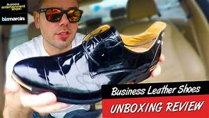 AWESOME $15 LEATHER Business Shoes from WISH.com UNBOXING ...