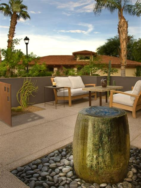 outdoor water feature 10 refreshing container water features hgtv