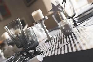 Deco Noir Et Blanc : decoration table de noel noir et blanc ~ Melissatoandfro.com Idées de Décoration