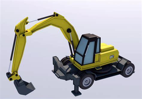 Excavator | CGTrader