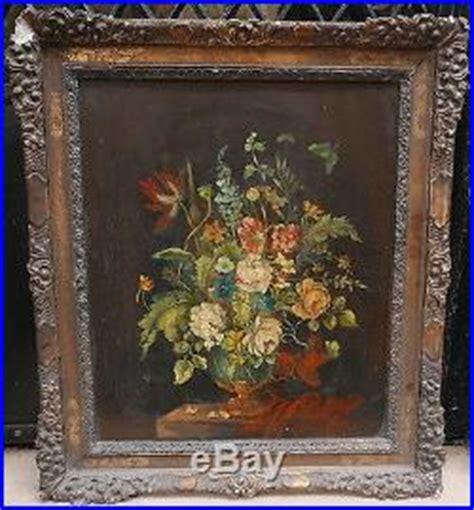 nettoyer un cadre dore huile sur toile 187 archive 187 tableau ancien huile bouquet de fleurs tr 232 s garni xixe cadre