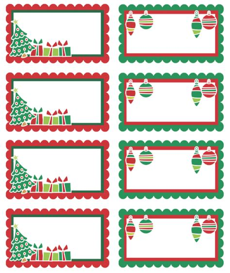 christmas labels ready  print  printable labels