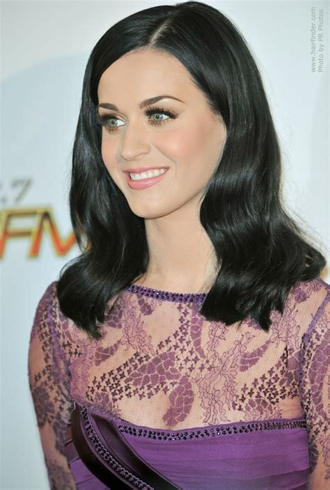 Katy Perry Black Hair with Blue