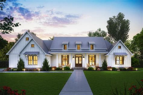farmhouse floor plan exclusive modern farmhouse plan with split bedroom layout