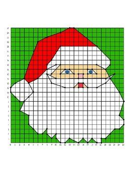 Math Coordinates Worksheets Christmas  1000 Images About Coordinate Graphing Pictures On