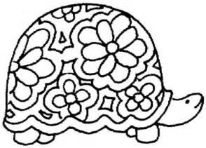 ausmalbild schildkröte mit blumenmuster ausmalbilder kostenlos zum ausdrucken