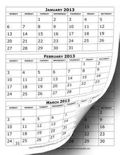 printable  month calendar   format  colors
