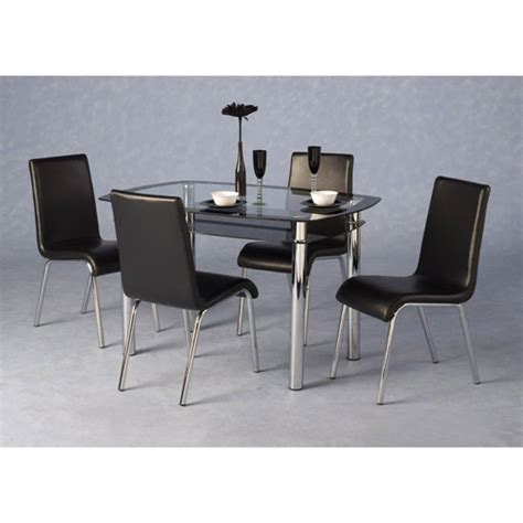 glass table with 4 chairs glass dining tables and 4 chairs furnitureinfashion uk