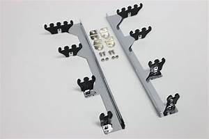 Chrome Linear Spark Plug Wire Separators Divider Loom Black Valve Cover Sbc 350