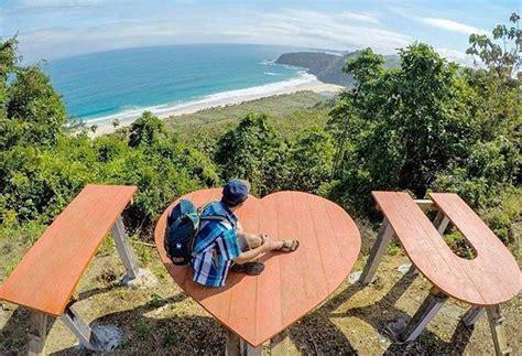 lokasi  rute pantai modangan malang  spot selfie love