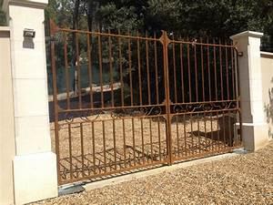 Vial Portillon Fer : portail battant en fer id es de ~ Premium-room.com Idées de Décoration