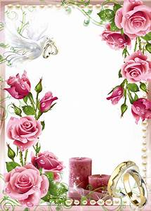 Soft Pink Wedding Photo PNG Frame | Wedding frames ...