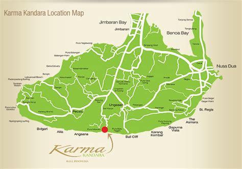 detail location map  karma kandara resort bali