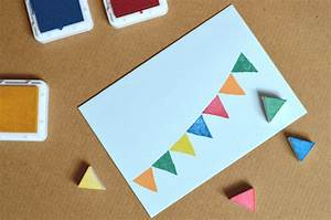 Geburtstagskarten Basteln Ideen : basteln mit kindern gestempelte geburtstagskarten himbeer magazin m nchen ~ Watch28wear.com Haus und Dekorationen