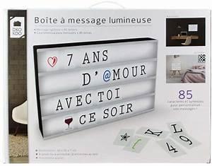 Boite Lumineuse Message : boite lumineuse message personnalisable ~ Teatrodelosmanantiales.com Idées de Décoration